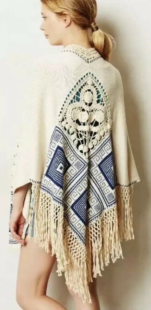18. Rare Wanted Anthropologie Chapala Poncho by Angel of the North