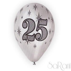 Ballons-25-Annees-argente-20-pcs-ballons-Anniversaire-Fete-fete-Decorations-30cm