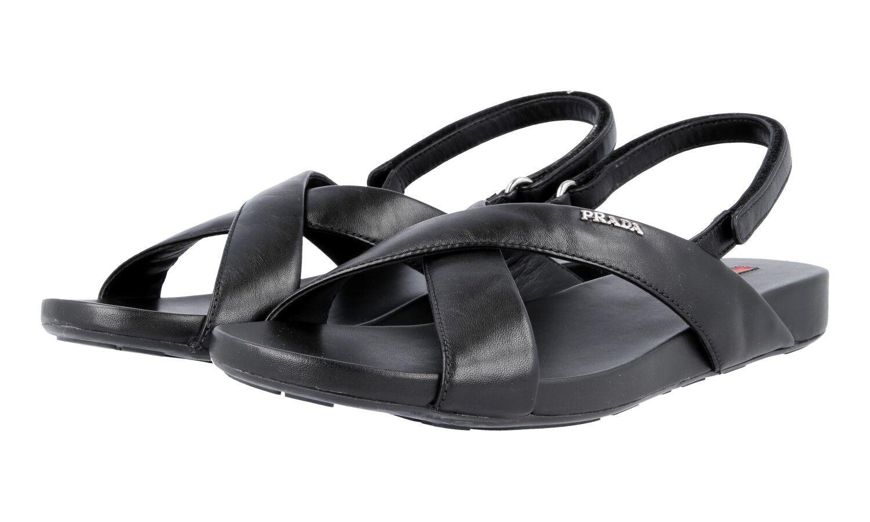 SANDALO PRADA LUSSO 3X5704 negro NUOVE 39,5 40 40 40 UK 6.5  ventas al por mayor