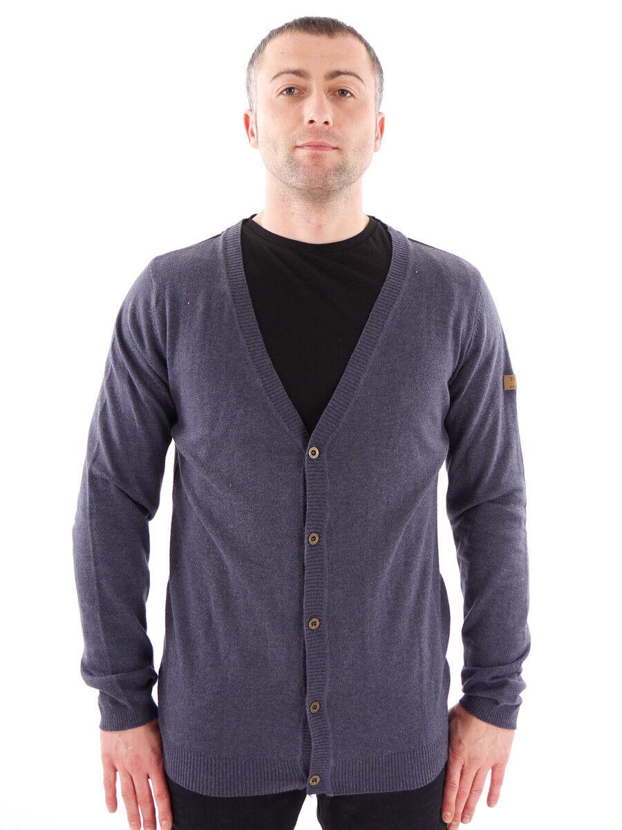Timezone Timezone Timezone cardigan giacca Casual blu BOTTONI Riscaldonnato scollatura 5a221b