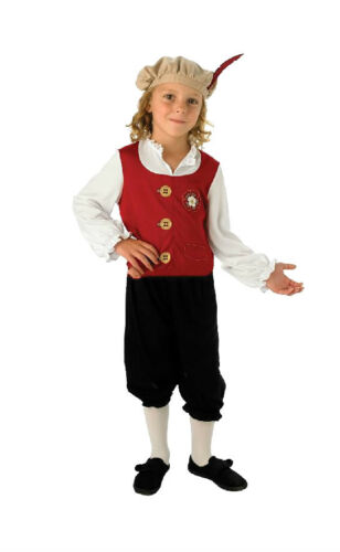 Child TUDOR BOY Medieval Prince School Book Day Week Fancy Dress Costume Outfit