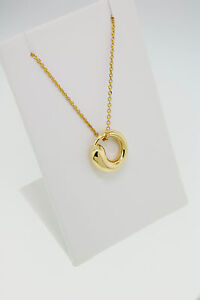 Tiffany co elsa peretti eternal circle necklace 18 k yellow gold image is loading tiffany amp co elsa peretti eternal circle necklace mozeypictures Choice Image
