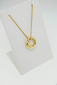 Tiffany co elsa peretti eternal circle necklace 18 k yellow gold image is loading tiffany amp co elsa peretti eternal circle necklace mozeypictures