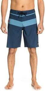 Quiksilver-Mens-SLATER-STRIPE-20-034-BOARDSHORT-Boardies-Shorts-Mens-Size-32-Navy