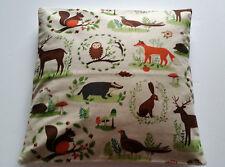 Owl Wildlife Cushion Cover - Forest Animals Deer - Rabbits Woodland Scene Linen