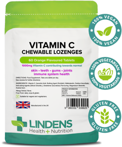 Lindens-Vitamin-C-1000mg-Chewable-Lozenges-60-Pack-High-Strength-Immune