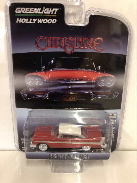 Christine 1958 Plymouth Fury 1:64 Scale Greenlight 44830C