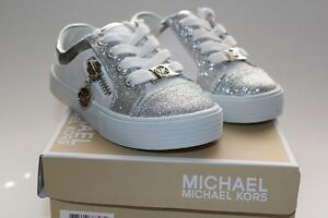RARE MICHAEL KORS MALAGA KIDS GIRLS SHOES SNEAKERS Sz 6 7