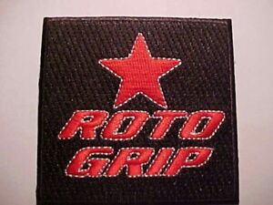 Roto Grip Embroidered Shirt Patch Old School Logo Red Letters Black Background Ebay