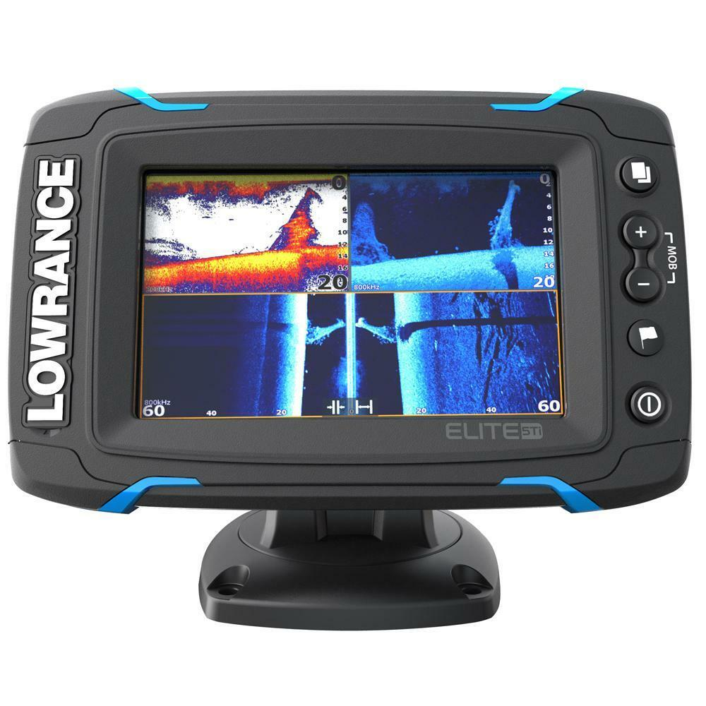 LOWRANCE ELITE 5-TI À ÉCRAN TACTILE FISHFINDER ECO GPS DOWN SIDE SCAN