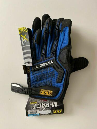 Medium M-Pact Blue Gloves