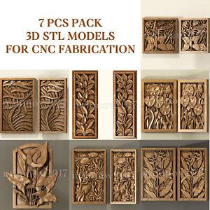 7 pcs set 3d stl models  for CNC Router Artcam Aspire
