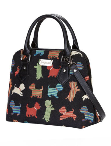 SIGNARE CONVERTIBLE PLAYFUL PUPPY DOG TAPESTRY WOMEN/'S FASHION SHOULDER BAG GIFT