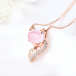Pink Shell Pendant on Antique Silver Chain with Hook /& Eye Clasp