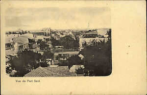Port-Said-B-r-Sa-d-Agypten-Egypt-1900-General-View-Panorama-City-Stadt-Houses