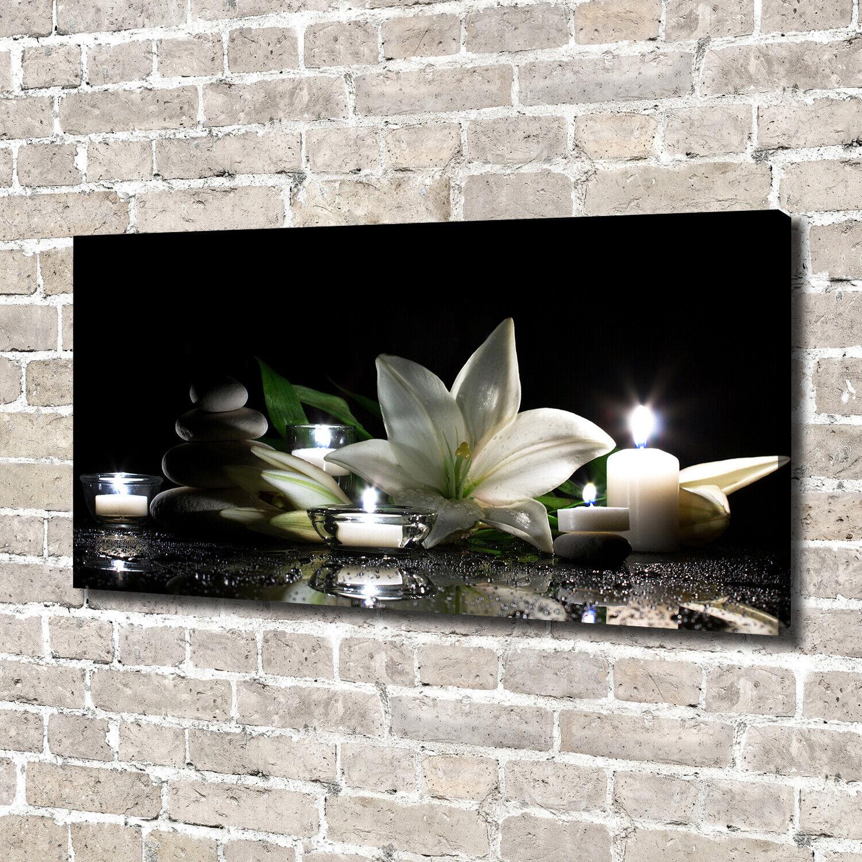 Leinwandbild Kunst-Druck 140x70 Bilder Blaumen & Pflanzen Weiße Lilie