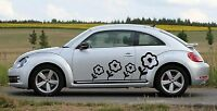 Universal Flowers 02 Car Sticker Decal Graphics - Choose Colors Fits Vw Beetle