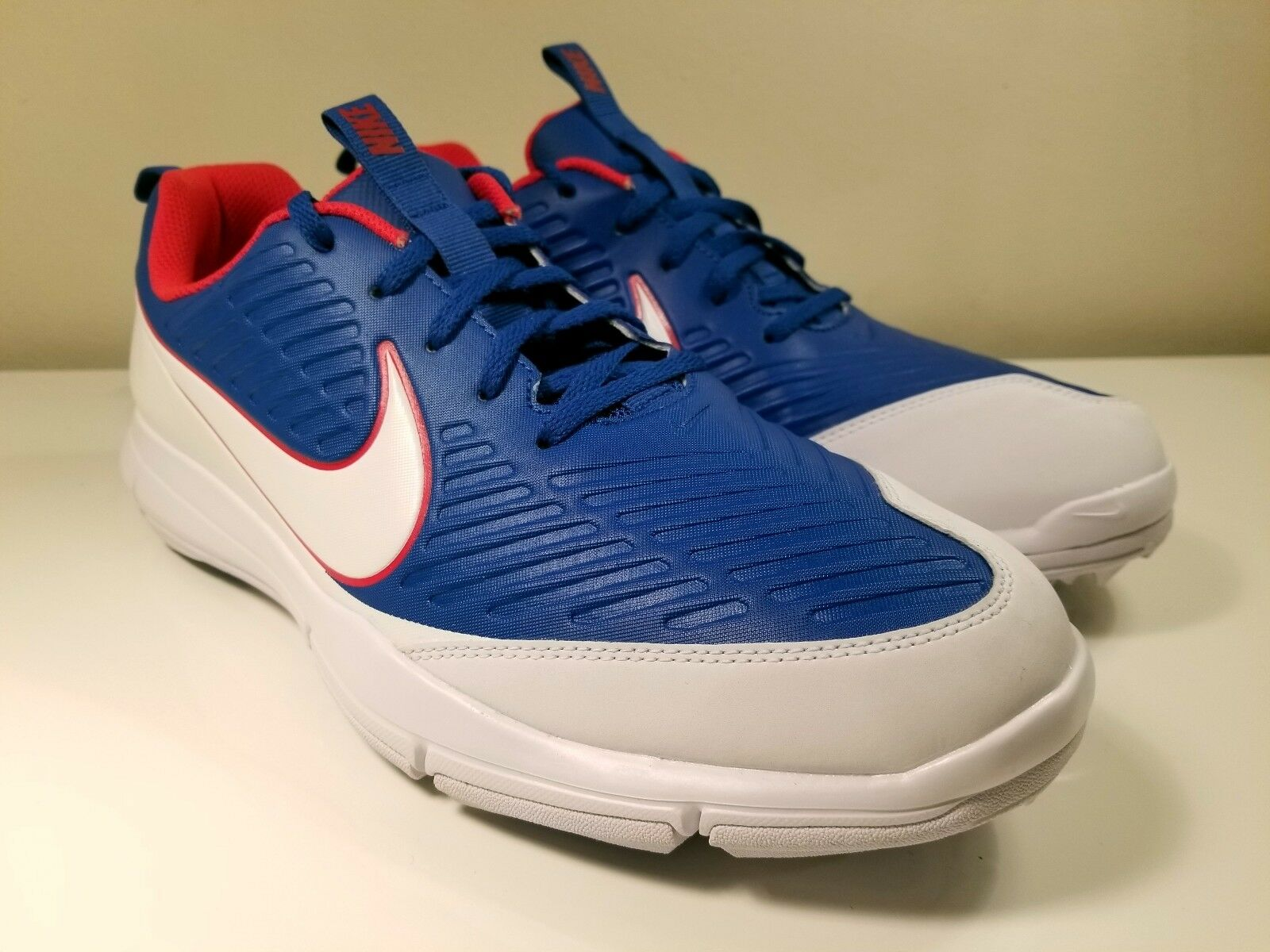 Nike Explorer 2 Spikeless Golf Blue Shoes Blue Golf Jay White Red (849957-401) Size 11.5 6223fb