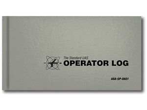 New ASA Standard UAS Operator Log - Gray ISBN 978-1-61954-472-7 #ASA-SP-UAS1