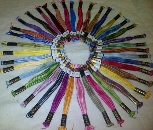 40 Diversi Colori 40 Nuovo Anchor Misti Croce Cucito fili