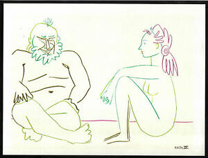 PABLO-PICASSO-1955-LITHOGRAPH-w-COA-invest-in-listed-VINTAGE-Picasso-RARE-ART