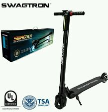 Swagtron Swagger Ultra Light Foldable Carbon Fiber Electric Scooter Black w/ LED