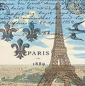 TWO (2) Paris Eiffel Tower Cocktail Napkins for Decoupage and Paper Crafts