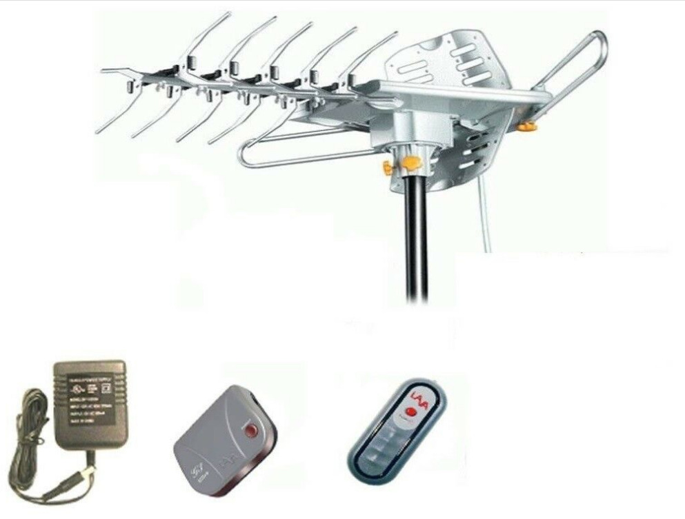 Lava HD-2605 goodmemory Remote Controlled HD TV Antenna 150 Miles Range 360° Rotation Outdoor 3G Control