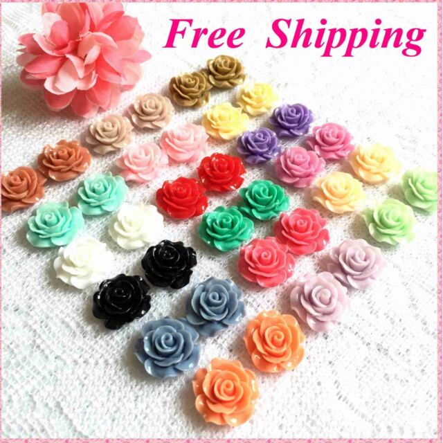 20mm Rose Flower Earrings~Stud,Clip on,Magnetic Non-pierced Wholesale Lot Free S