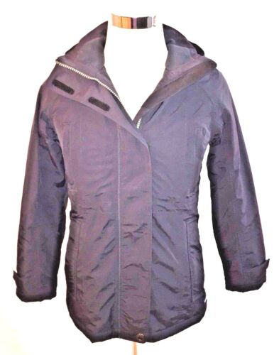 Lands/' End Women/'s Black Petite Squall Insulated Parka Coat Size XS//P 2-4 NWOT