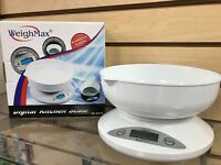 Weighmax Digital Kitchen Scale White 2000 X 1 Weigh In Kg Or Pounds Free Ship