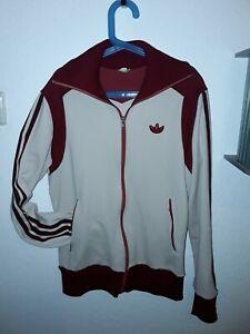 Adidas 70er Jahre True Vintage Trainingsjacke Hellblau West