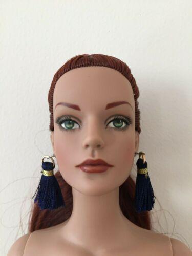 """Red or Deep Blue Tassel Earrings for 16/"""" Tonner Tyler Sydney Doll Ellowyne BJD"""