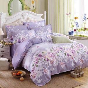 Floral Bedding Set Cotton Doona Cover Bed Duvet Cover Set Single Queen King Size
