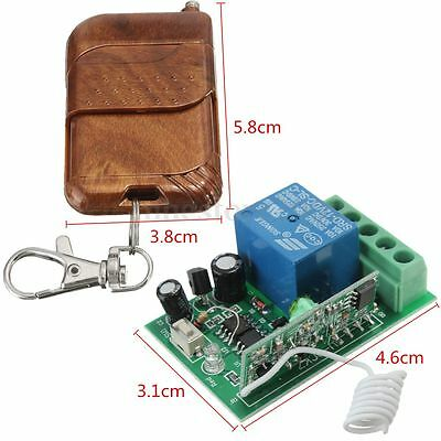 12V 10A Relay Wireless RF Remote Control Switch Transmitter & Receiver Home Door