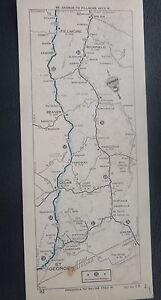 C1940 S U S 91 89 St George To Fillmore Utah Stip Road Map Nac Oil