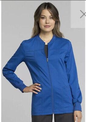 Cherokee Workwear Scrub Jacket Royal XS   eBay