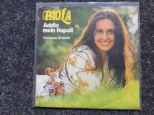 Paola del Medico - Addio mein Napoli/ Gewinnen ist leicht 7'' Single - Neuss, Deutschland - Paola del Medico - Addio mein Napoli/ Gewinnen ist leicht 7'' Single - Neuss, Deutschland