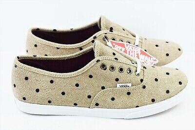 Vans Authentic Lo Pro Mens Size 7.5 Skate Shoes Womens Size 9 Tweed Dots Tan Clothing, Shoes & Accessories Unisex Clothing, Shoes & Accs
