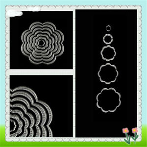 7Pcs-Lovely-Flower-Circles-Cutting-Dies-Scrapbook-Embossing-Album-Paper-CraftP0