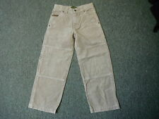 """Timberland Loose Fit Cords Waist 24"""" Leg 22"""" Faded Beige Boys 8 Yrs Cord Jeans"""