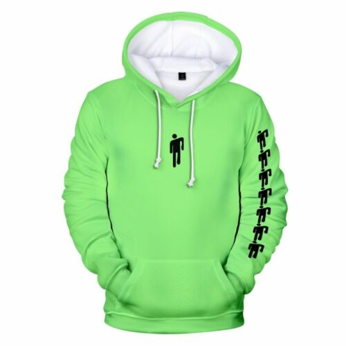 Funny Billie Eilish Harajuku NEON GREEN 3D Hoodies sweatshirt Men//Women spring