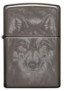 ZIPPO-BENZINA-ACCENDINO-Black Ice ® Wolf design - 60004546 -