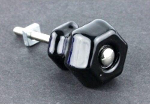 "K39-GK-3BLK Antique Black Milk Glass Knob 1-1//4/"""