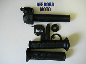 Domino-Trials-Bike-Slow-Action-Throttle-With-Grips-DIRECT-FIT-FULL-KIT