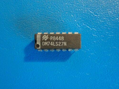 NATIONAL  DM74LS27N 3-INPUT NOR GATE   14 PIN  QTY = 1