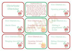 Christmas Charades.Details About Christmas Charades Party Game Children Family Activity Xmas Fun Activity Santa
