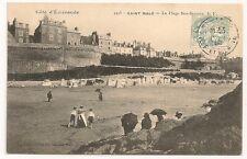 Carte postale ancienne Côte d'Emeraude Saint Malo Plage Bon Secours