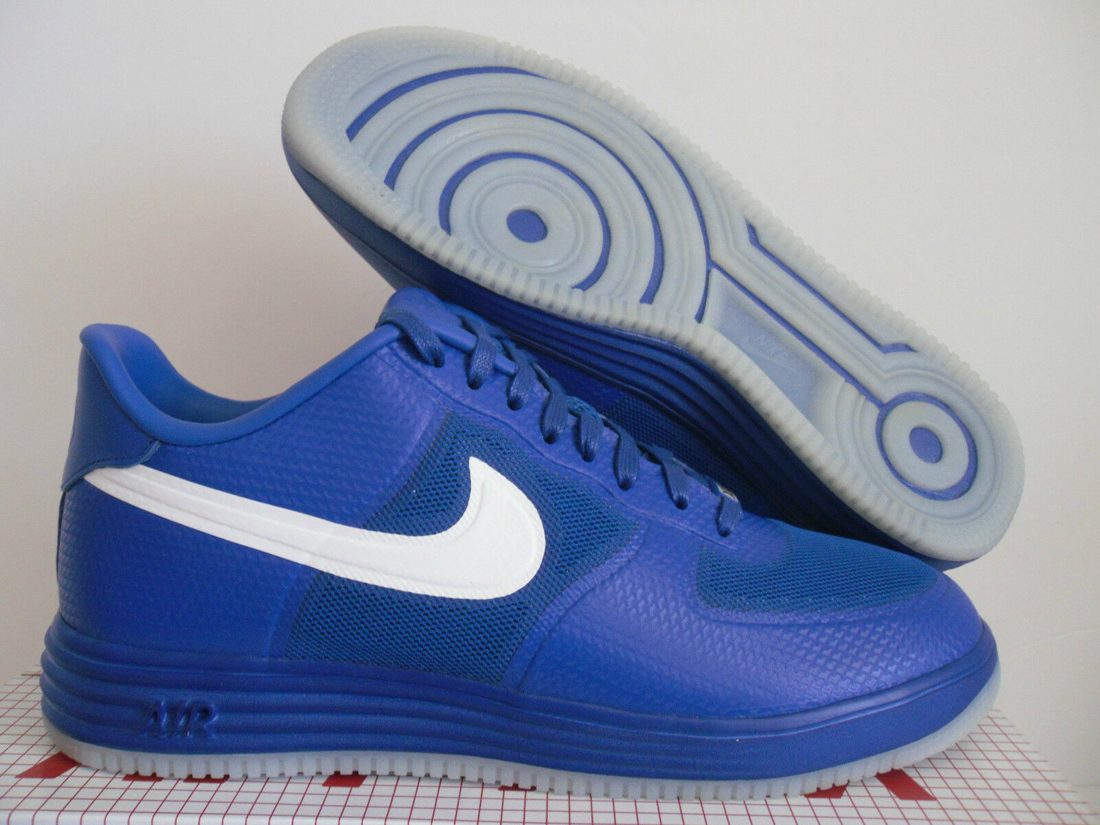 NIKE LUNAR FORCE 1 FUSE NRG GAME ROYAL blueE-WHITE SZ 11.5 [573980-400]