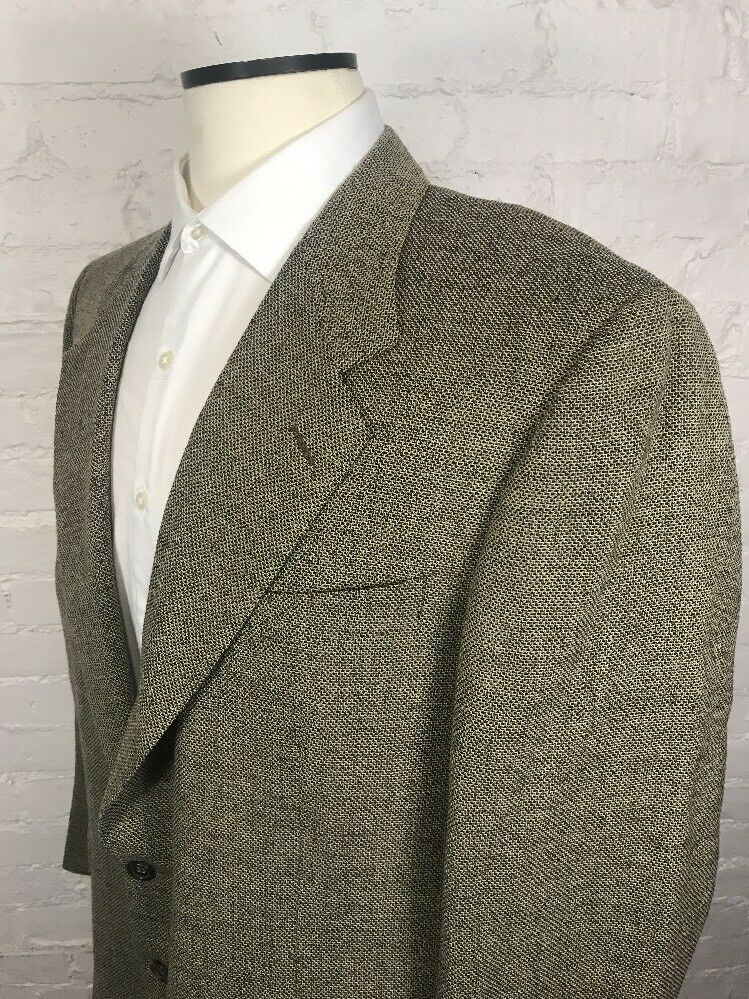 CANALI Blazer Men's 44R gold Nailhead 13220 00 100% Wool 2 Button